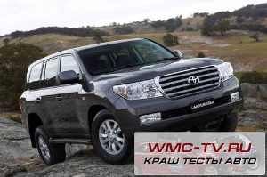 Land cruiser crash test