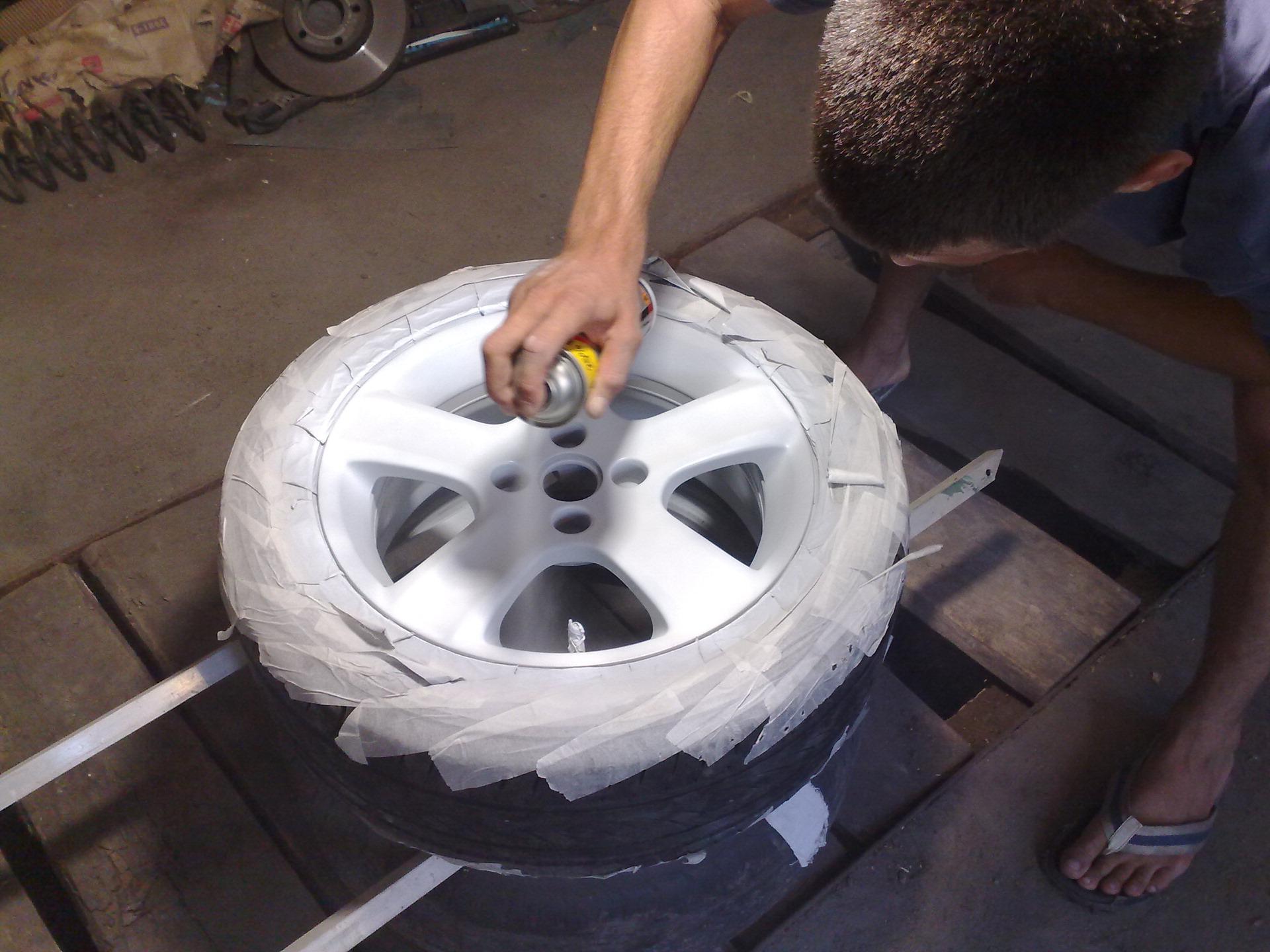 Покраска автомобильного диска своими руками