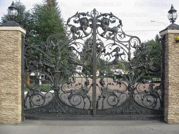 Кованые ворота и калитки фото в чечне